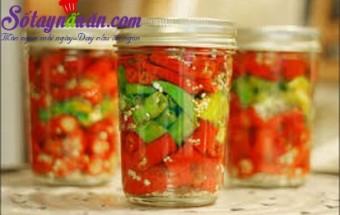 Nấu ăn món ngon mỗi ngày với Giấm trắng, Ớt ngâm giấm thơm ngon