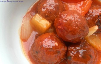 Nấu ăn món ngon mỗi ngày với Dầu hào, thịt viên sốt chua ngọt 6