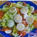 salad trứng cút,