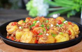 món ăn hà nội, đậu hũ sốt cà chua thịt bằm