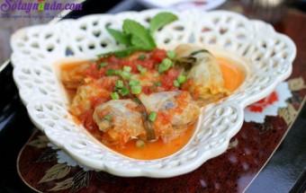 Nấu ăn món ngon mỗi ngày với Miến, bắp cải cuộn thịt sốt cà chua 6