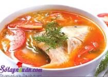 Bí quyết nấu canh chua cá điêu hồng ngon miễn chê