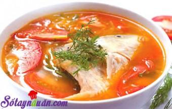 Nấu ăn món ngon mỗi ngày với Hành tím, Bí quyết nấu canh cá chua điêu hồng ngon miễn chê