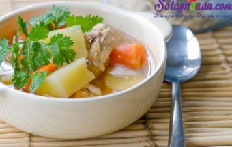 Nấu ăn món ngon mỗi ngày với Hạt nêm, Bí quyết nấu canh khoai tây với sườn ngon đúng điệu