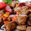 thịt bê xào cần tỏi, cách làm bò lúc lắc 1
