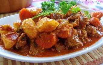 Nấu ăn món ngon mỗi ngày với Khoai tây, cách làm cà ri cơm bò 6