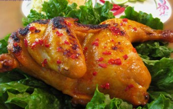 món ăn nướng, cách làm gà nướng muối 4