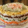 hướng dẫn làm salad cá hồi tại nhà, Cách làm tháp cơm sushi 8 tầng lại ngon dễ làm kết quả