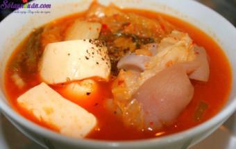 Nấu ăn món ngon mỗi ngày với Kim chi, cacnh kim chi hầm giò heo 4