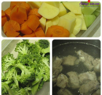 cách nấu canh sườn hầm thập cẩm 1
