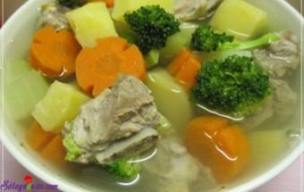 Nấu ăn món ngon mỗi ngày với Khoai tây, cách nấu canh sườn hầm thập cẩm 3