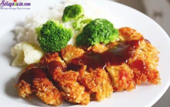 cách làm món ăn lạ, cách làm gà rán kiểu nhật 1