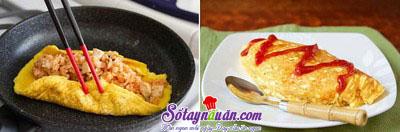Hướng dẫn làm món trứng bọc cơm vừa ngon vừa đẹp mắt 5