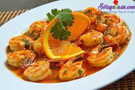 Nấu ăn món ngon mỗi ngày với dấm, tôm sốt cam 3