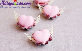 Nấu ăn món ngon mỗi ngày với Lòng trắng trứng, Học làm Macaron tình yêu cho ngày Valentine
