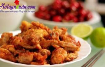 Nấu ăn món ngon mỗi ngày với Bột mì, Bí quyết làm thịt gà chiên xốt tương gừng ngon giòn rụm