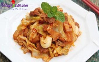 Nấu ăn món ngon mỗi ngày với Bắp cải, Cách làm bắp cải xào thịt ba chỉ đậm đà ngon cơm