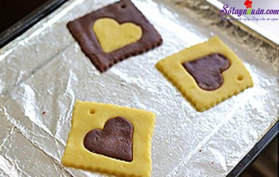 cách làm cookie trái tim cho ngày Valentine 6