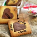 cách làm bánh nhãn, cách làm cookie trái tim cho ngày Valentine 7