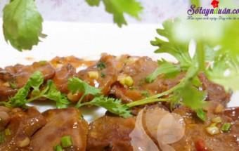 Nấu ăn món ngon mỗi ngày với Hành hoa, cách làm lưỡi xào chua ngọt 9