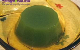 món ăn vỉa hè, Cách làm thạch sữa chua trà xanh thơm ngon đẹp mắt