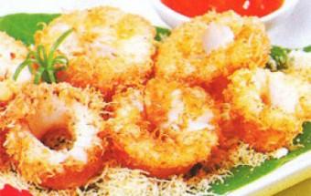 Nấu ăn món ngon mỗi ngày với Dừa nạo, Hướng dẫn làm mực chiên giòn với dừa béo ngậy dậy mùi