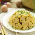 thịt gà rang muối, Hướng dẫn làm trứng cuộn thịt ngon và đẹp mắt kết quả
