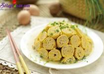 Hướng dẫn làm trứng cuộn thịt ngon và đẹp mắt