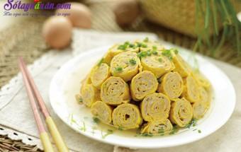Nấu ăn món ngon mỗi ngày với Bột bắp, Hướng dẫn làm trứng cuộn thịt ngon và đẹp mắt kết quả