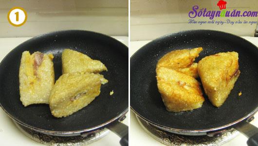 Tuyệt chiêu để có món bánh chưng rán giòn ngon ăn không ngấy cách 1