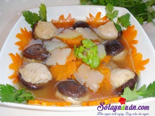Tuyệt chiêu nấu canh mọc nấm hương thơm ngon cho tết ấm áp 4