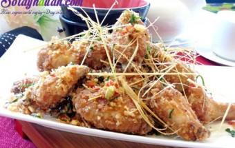 Nấu ăn món ngon mỗi ngày với Đậu xanh, Món gà rang muối thơm ngon đãi khách
