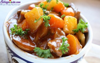 Nấu ăn món ngon mỗi ngày với Tỏi băm, cách làm bò hầm 7