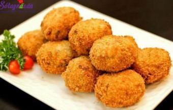 Nấu ăn món ngon mỗi ngày với Bột canh, cách làm khoai tây thịt bò chiên xù 8