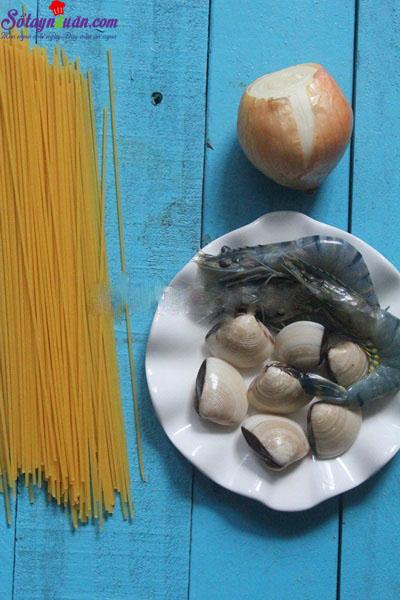 cách làm mỳ ý hải sản 1