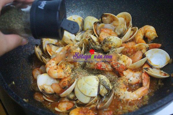 cách làm mỳ ý hải sản  9