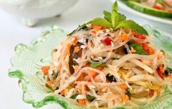 Nấu ăn món ngon mỗi ngày với Giá đỗ, cách làm miến trộn chua cay