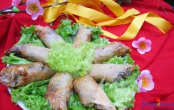 Nấu ăn món ngon mỗi ngày với Mộc nhĩ, Cách làm nem rán ngon bước 10