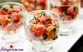 Nấu ăn món ngon mỗi ngày với Vừng rang, cách làm salad cá hồi 10