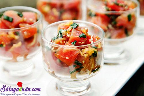 cách làm salad cá hồi 10