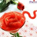 sinh tố dâu tây, cách làm sinh tố hoa hồng đá
