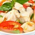 cá diêu hồng, canh ngao nấu riêu