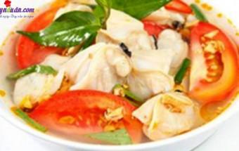món ăn miền trung, canh ngao nấu riêu