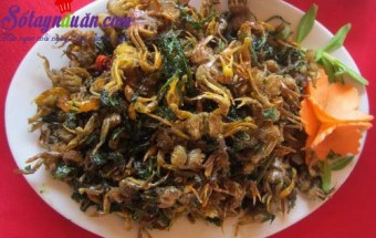 ẩm thực việt, Hướng dẫn làm món cua đồng rang lá lốt