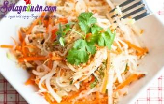 Nấu ăn món ngon mỗi ngày với Lạc rang, Hướng dẫn nộm su hào cà rốt ngon đúng điệu