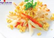 Củ cải xào trứng-món ăn dinh dướng giảm cân cho người béo