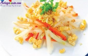 Nấu ăn món ngon mỗi ngày với Tỏi băm, thực đơn với củ cải cho người béo