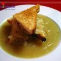 cách làm sườn sốt kem nấm, Hướng dẫn làm súp hành kiểu Pháp lạ miệng