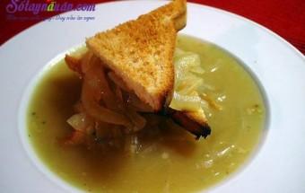 Nấu ăn món ngon mỗi ngày với Phô mai, Hướng dẫn làm súp hành kiểu Pháp lạ miệng