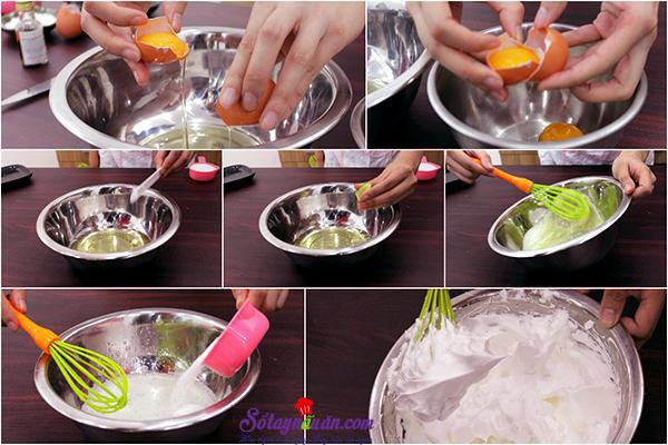 Cách làm bánh bông lan ngon chỉ bằng nồi cơm điện  1